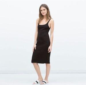 Zara Black Tank Midi Dress